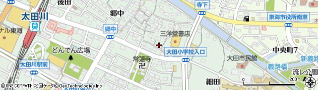 愛知県東海市大田町(畑間)周辺の地図