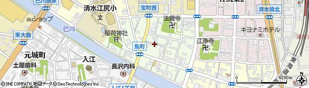 静岡県静岡市清水区江尻町周辺の地図