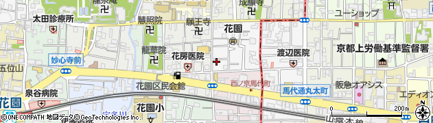 京都府京都市右京区花園巽南町周辺の地図