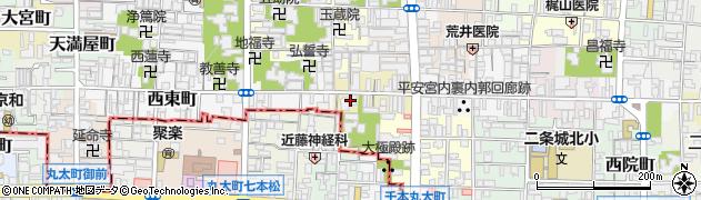 京都府京都市上京区稲葉町周辺の地図