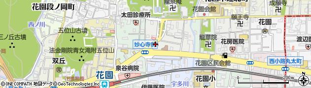 京都府京都市右京区花園寺ノ前町周辺の地図