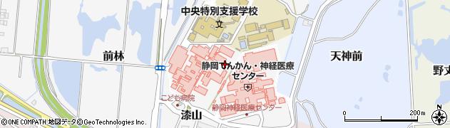 静岡県静岡市葵区漆山周辺の地図