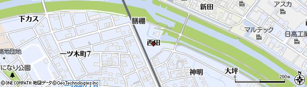 愛知県刈谷市一ツ木町(西田)周辺の地図