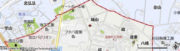 愛知県知立市逢妻町周辺の地図