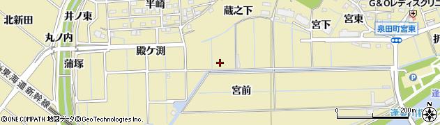 愛知県刈谷市泉田町(宮前)周辺の地図