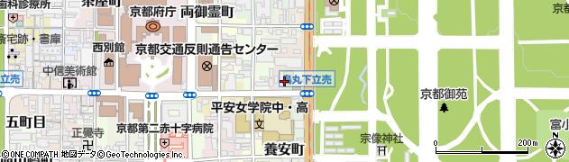 京都府京都市上京区五町目町周辺の地図