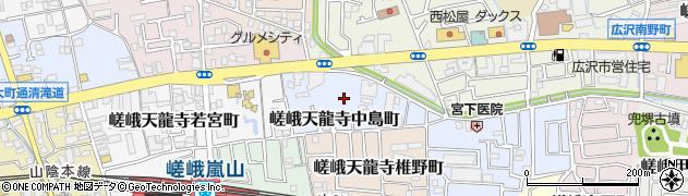 京都府京都市右京区嵯峨天龍寺中島町周辺の地図