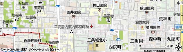 京都府京都市上京区下丸屋町周辺の地図