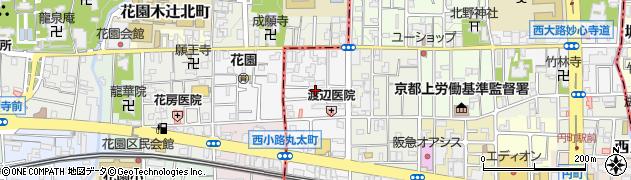 京都府京都市中京区西ノ京馬代町周辺の地図