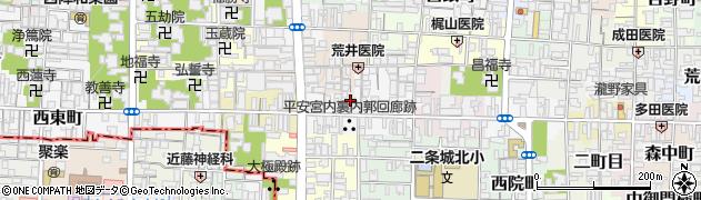 京都府京都市上京区田中町周辺の地図