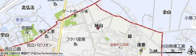愛知県知立市逢妻町(城山)周辺の地図