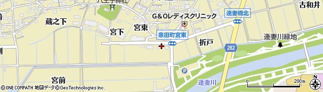 愛知県刈谷市泉田町(下折戸)周辺の地図