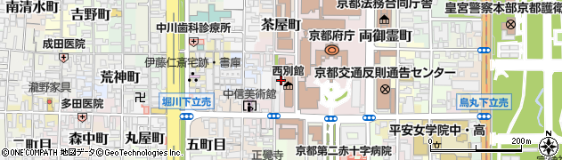 京都府京都市上京区勘兵衛町周辺の地図