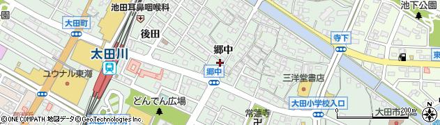 愛知県東海市大田町(郷中)周辺の地図
