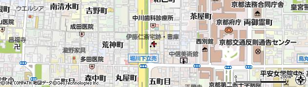 京都府京都市上京区四町目周辺の地図