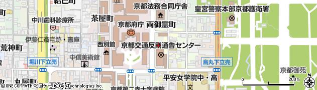 京都府京都市上京区両御霊町周辺の地図