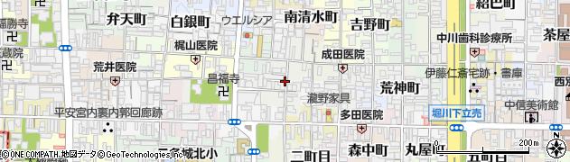 京都府京都市上京区天秤町周辺の地図