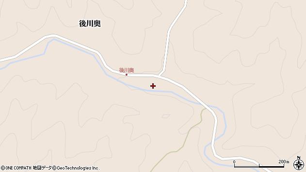 〒669-2425 兵庫県丹波篠山市後川奥の地図