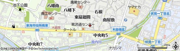 愛知県東海市富木島町(東扇廻間)周辺の地図