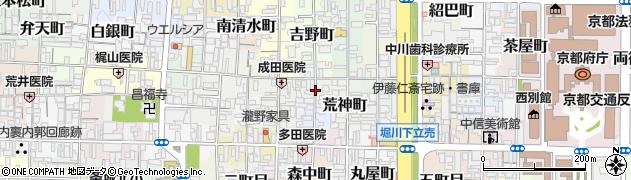 京都府京都市上京区北蟹屋町周辺の地図