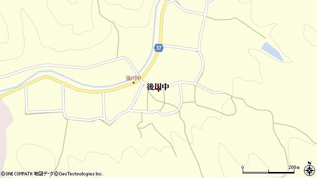 〒669-2423 兵庫県丹波篠山市後川中の地図