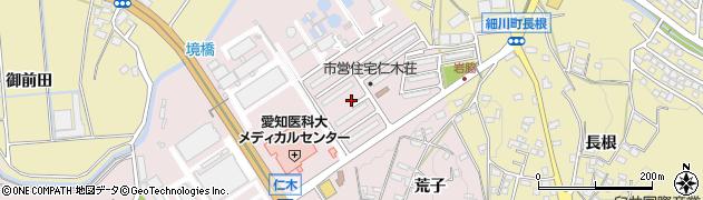 愛知県岡崎市仁木町(川越)周辺の地図