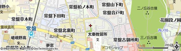 京都府京都市右京区常盤出口町周辺の地図