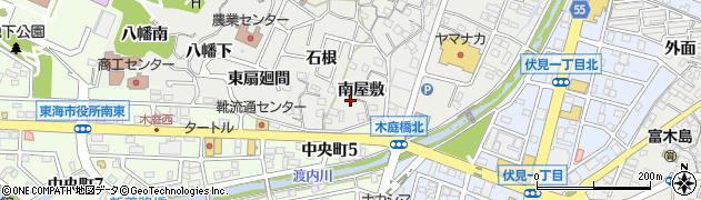 愛知県東海市富木島町(南屋敷)周辺の地図