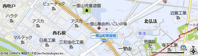愛知県刈谷市一里山町(新屋敷)周辺の地図