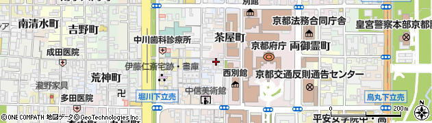 京都府京都市上京区丁子風呂町周辺の地図