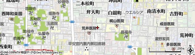 京都府京都市上京区東神明町周辺の地図