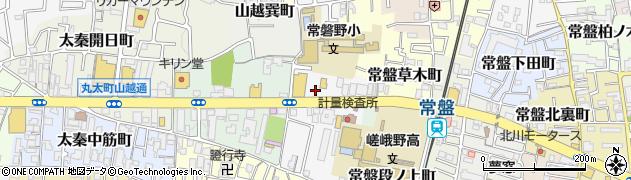 京都府京都市右京区太秦京ノ道町周辺の地図