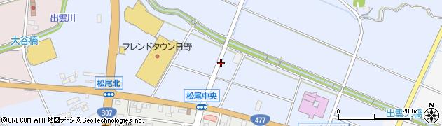 滋賀県日野町(蒲生郡)松尾周辺の地図