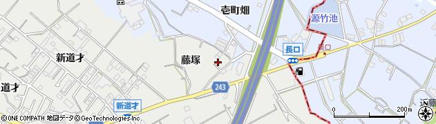 愛知県東海市富木島町(藤塚)周辺の地図