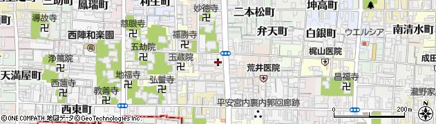 京都府京都市上京区尼ケ崎横町周辺の地図