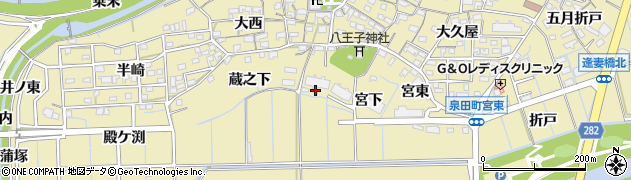 愛知県刈谷市泉田町(宮下)周辺の地図
