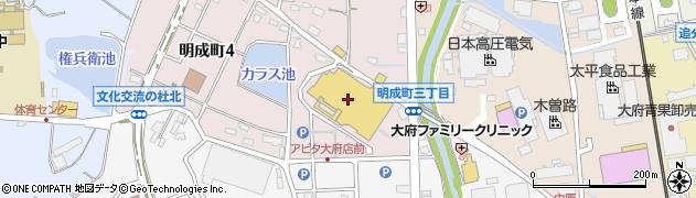 ぶどう圓周辺の地図
