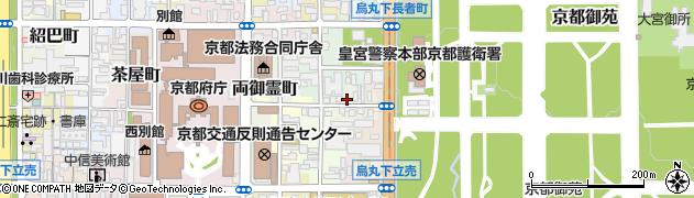 京都府京都市上京区中出水町周辺の地図