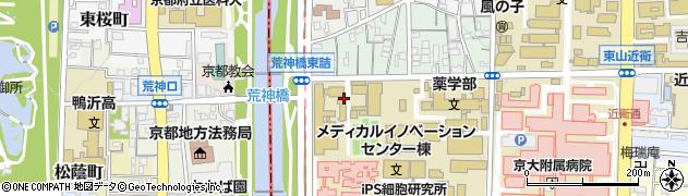 京都府京都市左京区吉田下阿達町周辺の地図