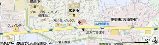 京都府京都市右京区嵯峨広沢御所ノ内町周辺の地図