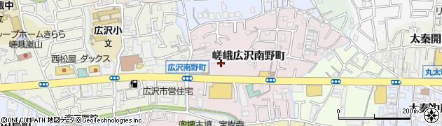 京都府京都市右京区嵯峨広沢南野町周辺の地図