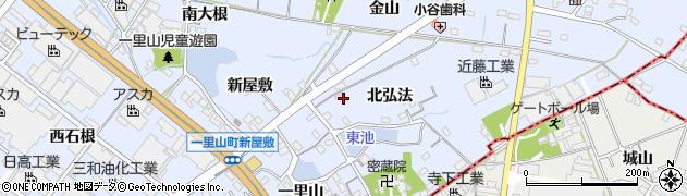愛知県刈谷市一里山町(北弘法)周辺の地図