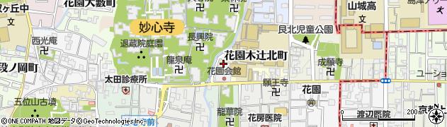 京都府京都市右京区花園木辻北町周辺の地図