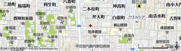 京都府京都市上京区西神明町周辺の地図