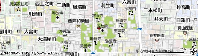 京都府京都市上京区七番町周辺の地図