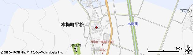 京都府亀岡市本梅町平松周辺の地図