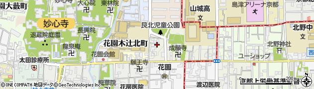 京都府京都市右京区花園艮北町周辺の地図