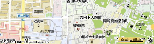 京都府京都市左京区吉田下大路町周辺の地図