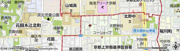 京都府京都市中京区西ノ京御輿岡町周辺の地図