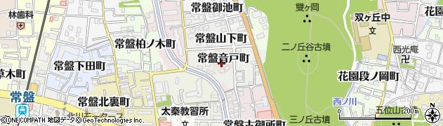 京都府京都市右京区常盤音戸町周辺の地図